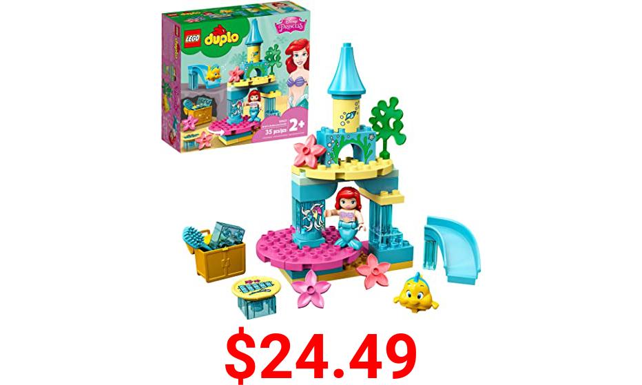 LEGO DUPLO Disney Ariel's Undersea Castle 10922 Imaginative Building Toy for Kids; Ariel and Flounder's Princess Castle Playset Under The Sea, New 2020 (35 Pieces)