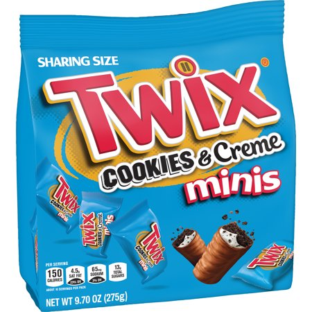 TWIX Minis Cookies and Creme Chocolate Candy Bars, 9.7- Ounce Bag