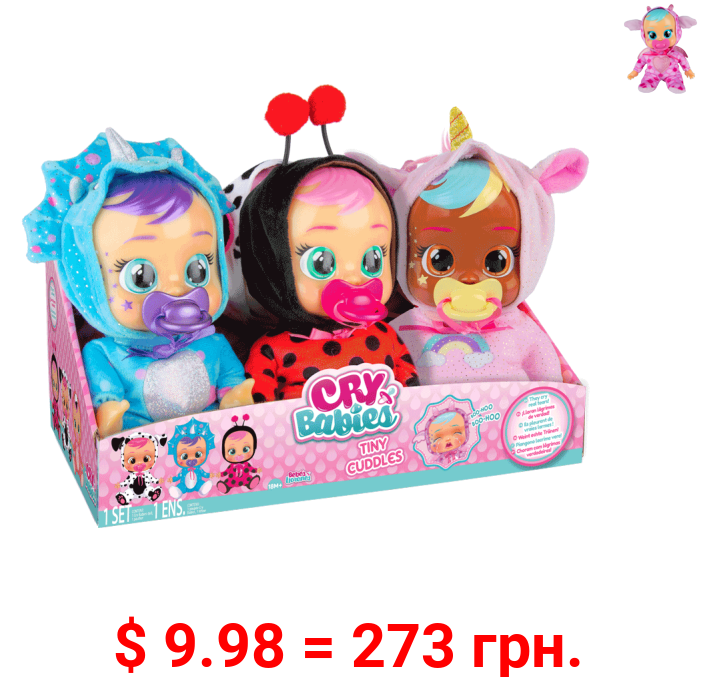 Cry Babies Tiny Cuddles  9 inch Baby Doll - Styles May Vary, Sold Separately