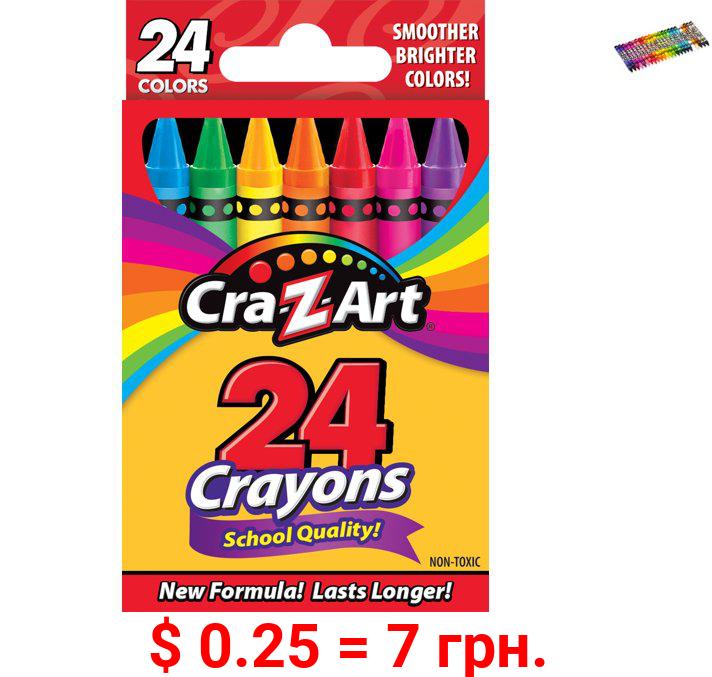 Cra-Z-Art School Quality Crayons, 24 Count