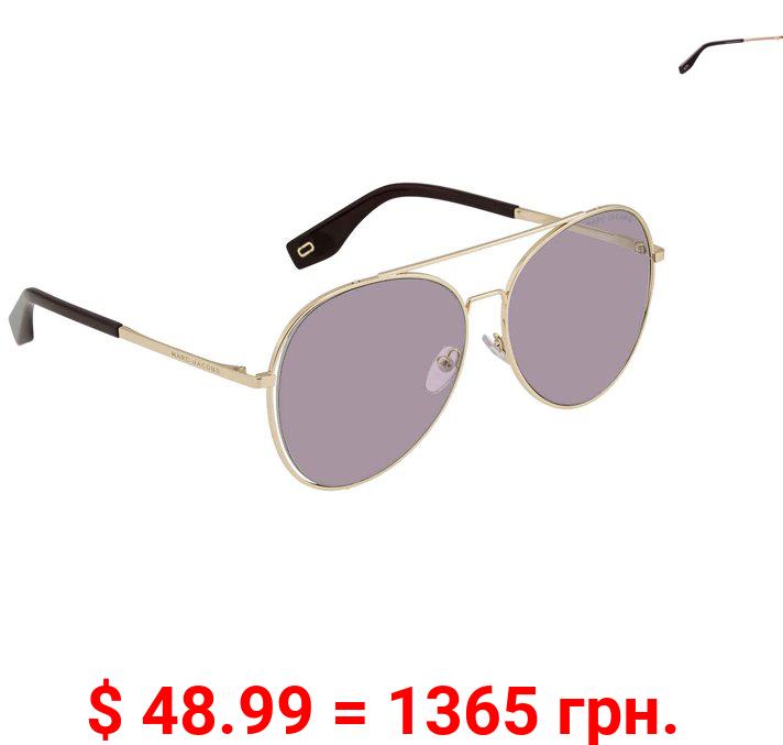 Marc Jacobs Violet Aviator Ladies Sunglasses Marc 328/F/S 0T7 UR 60
