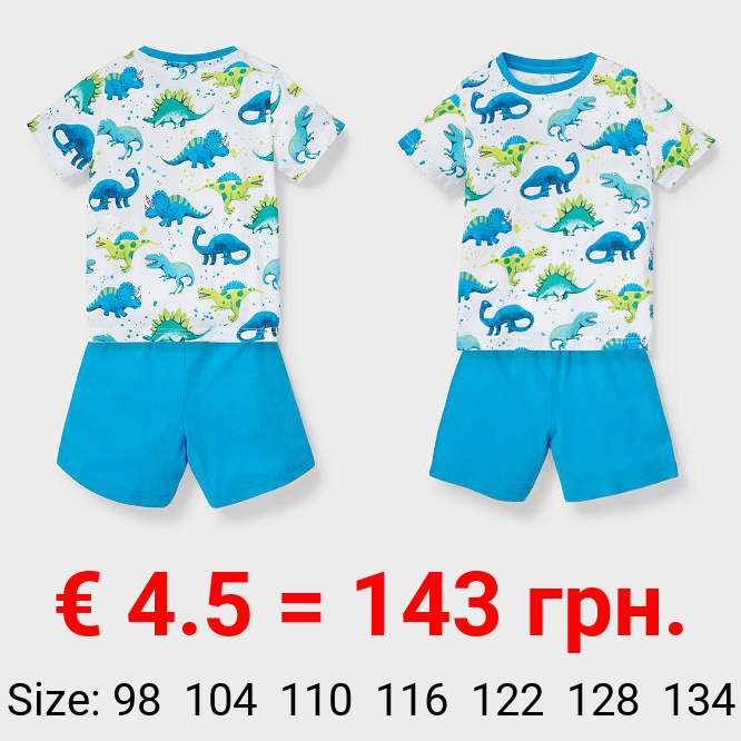Shorty-Pyjama -Bio-Baumwolle - 2 teilig