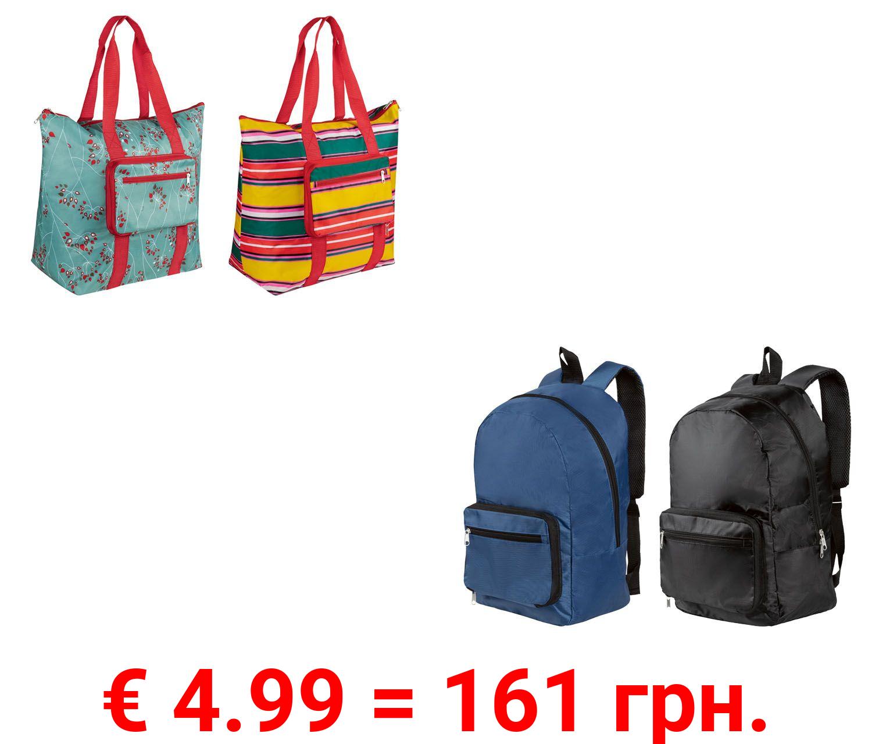 TOPMOVE® Reisetasche/Rucksack, mit 2 Außentaschen