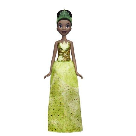 Disney Princess Royal Shimmer Tiana with Sparkly Skirt, Tiara, Shoes
