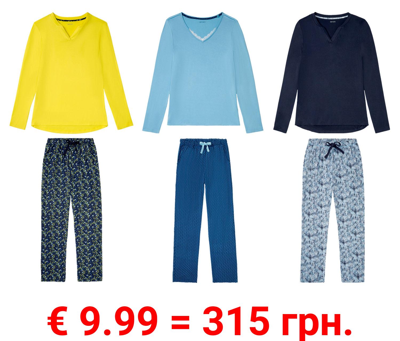 ESMARA® Pyjama Damen, mit Gummizugbund