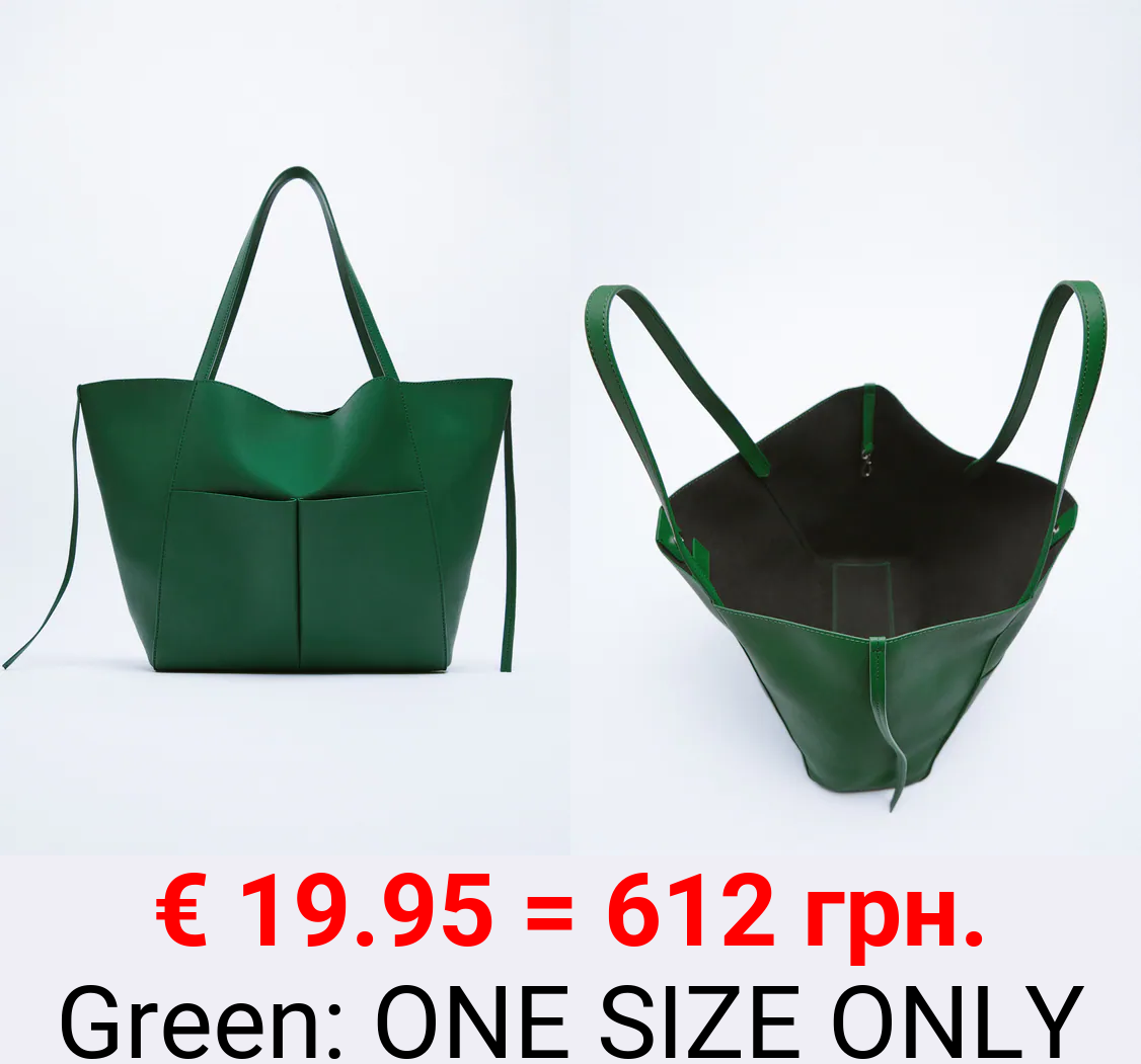 SOFT TOTE BAG WITH POCKETS