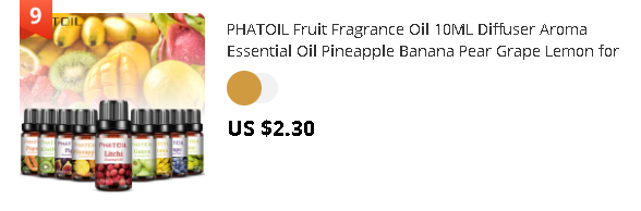 PHATOIL Fruit Fragrance Oil 10ML Diffuser Aroma Essential Oil Pineapple Banana Pear Grape Lemon for Lipgloss Candle Soap Making
