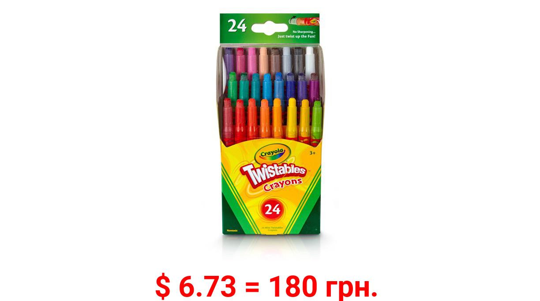 Crayola Twistables Mini Crayon Set, 24 Count