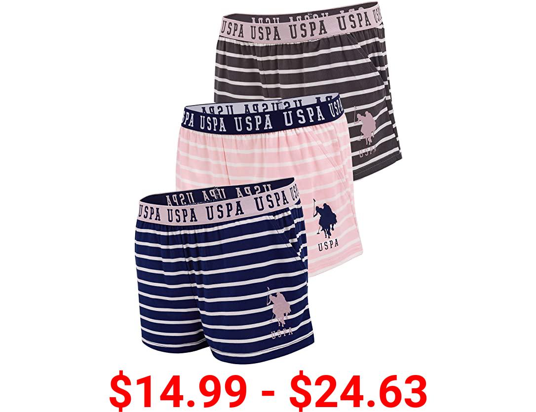 U.S. Polo Assn. Womens Elastic Waistband Pajama Sleep-Lounge Shorts