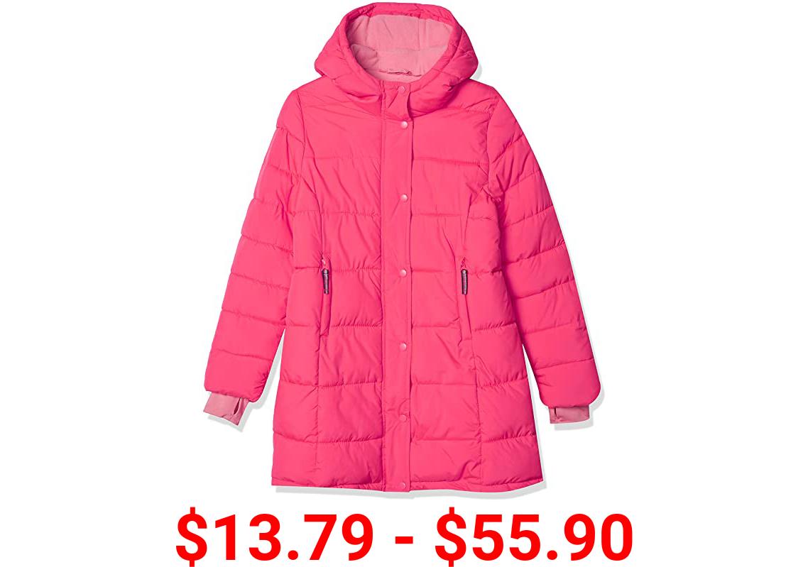 Amazon Essentials Girls' Long Heavy-Weight Hooded Puffer Jackets