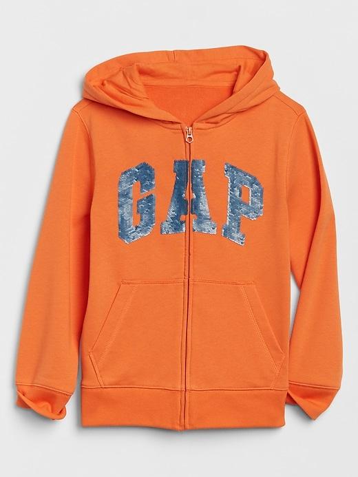 Kids Gap Logo Flippy Sequin Hoodie
