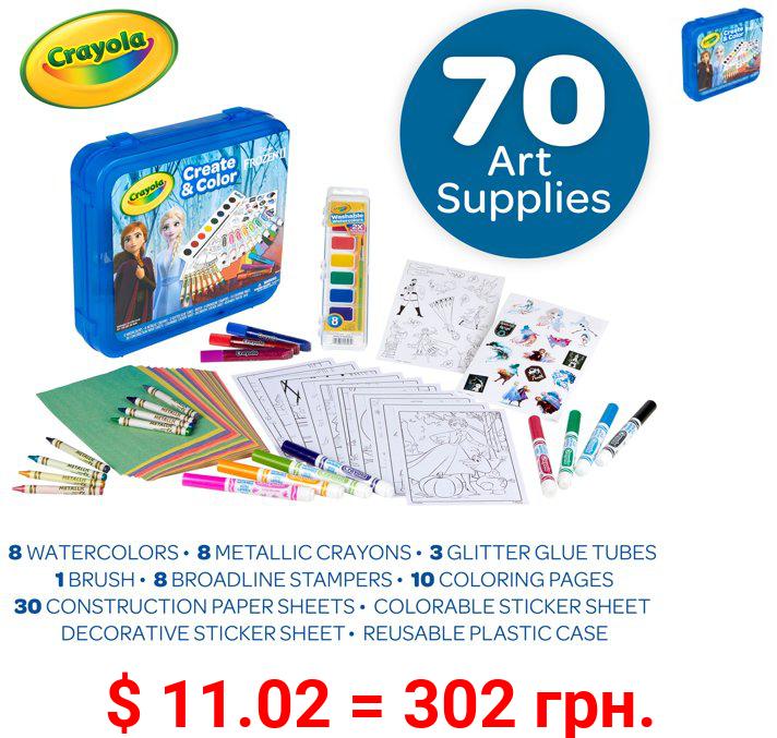 Crayola Create & Color Coloring Art Case Frozen 2, Child, 50 Pieces