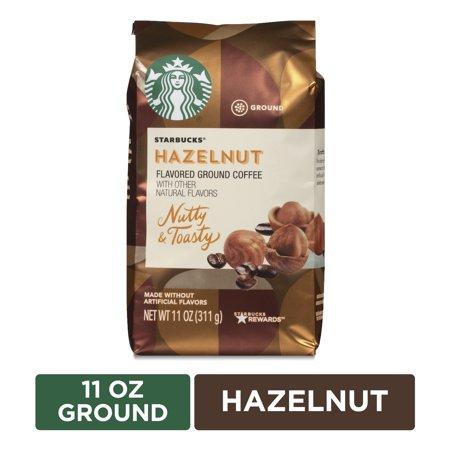 Starbucks Flavored Ground Coffee — Hazelnut — No Artificial Flavors — 1 bag (11 oz.)