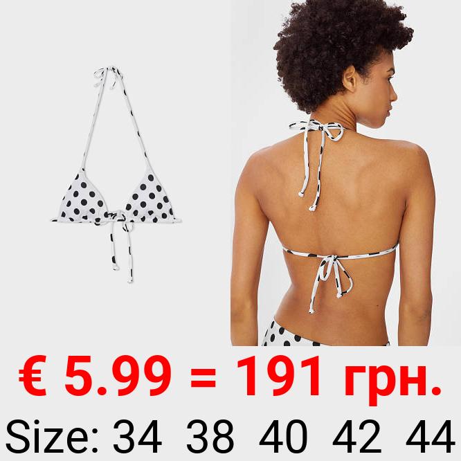 Bikini-Top - Triangel - wattiert - gepunktet