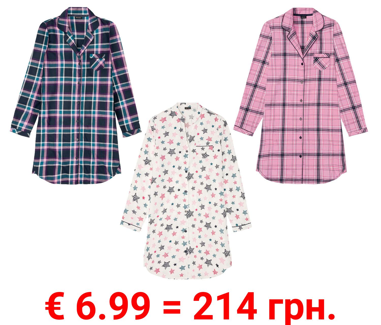 ESMARA® Bigshirt Damen, aus reiner Baumwolle