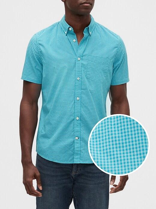 Print Poplin Short-Sleeve Shirt