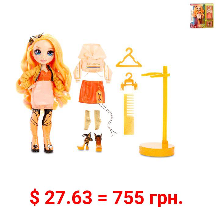 Rainbow High Poppy Rowan – Orange Fashion Doll with 2 Outfits