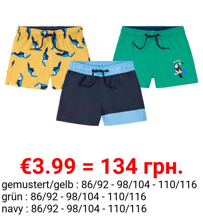 LUPILU® Kleinkinder Surfshorts Jungen, mit Gummizugbund