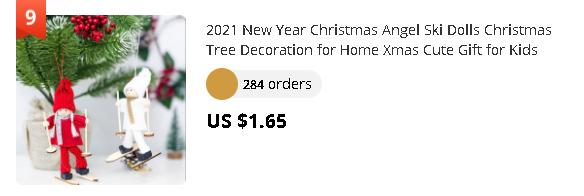 2021 New Year Christmas Angel Ski Dolls Christmas Tree Decoration for Home Xmas Cute Gift for Kids Noel Natal Navidad 2020 Craft