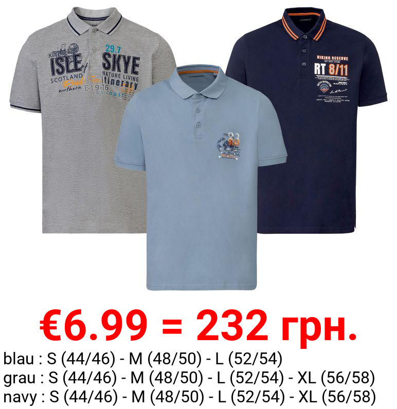 LIVERGY® Poloshirt Herren, mit Bio-Baumwolle