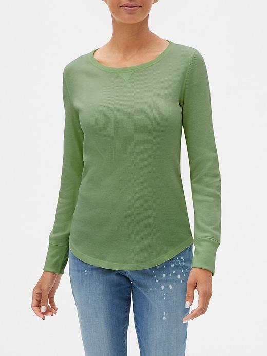 Long Sleeve Thermal Crewneck T-Shirt