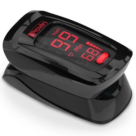 Finger Pulse Oximeter Heart Rate Health Monitor Blood Oxygen Fingertip Black