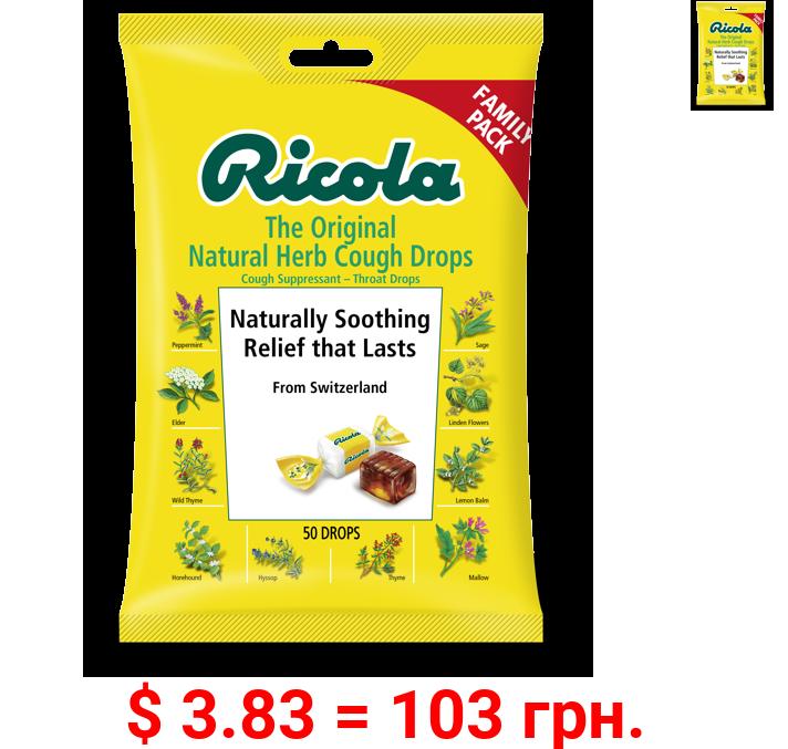 Ricola Original Natural Herb Cough Drops Family Pack, 50 ct