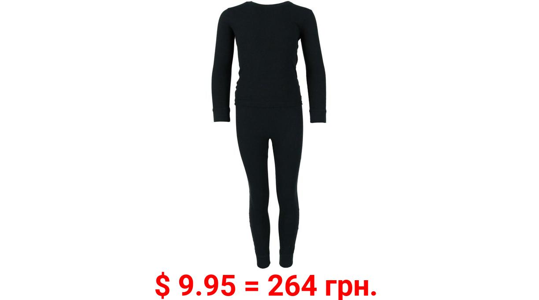 Boys Only Boy's Waffle Thermal Long Underwear 2-Piece Set