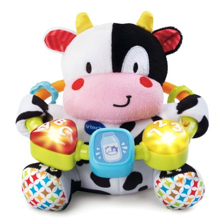 VTech Lil' Critters Moosical Beads, Plush Cow, Musical Baby Toy
