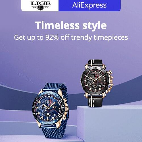 Featured brands-LIGE Get up to 92% off trendy timepieces Promotion Period: 17-08-2020 - 19-08-2020