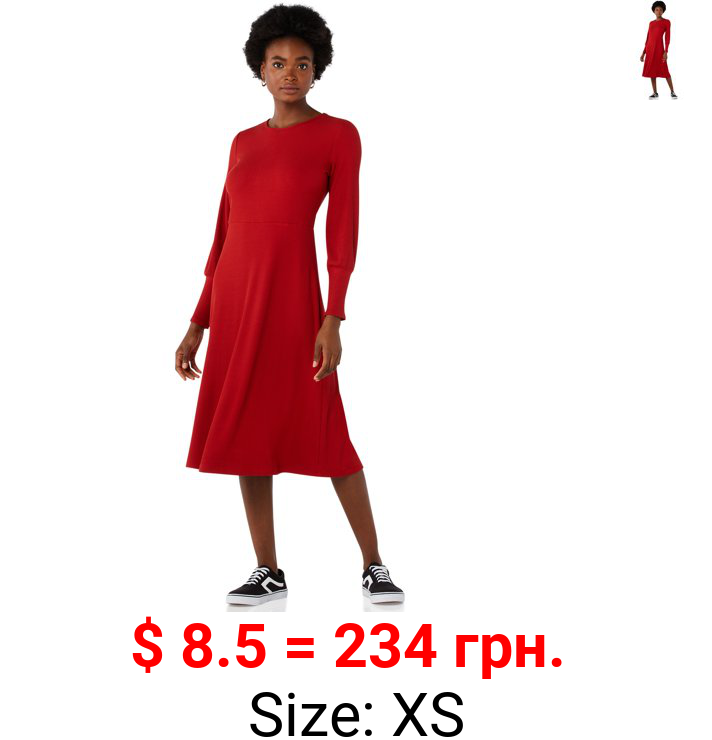 Free Assembly Women's Fit & Flare Rib Knit Dress
