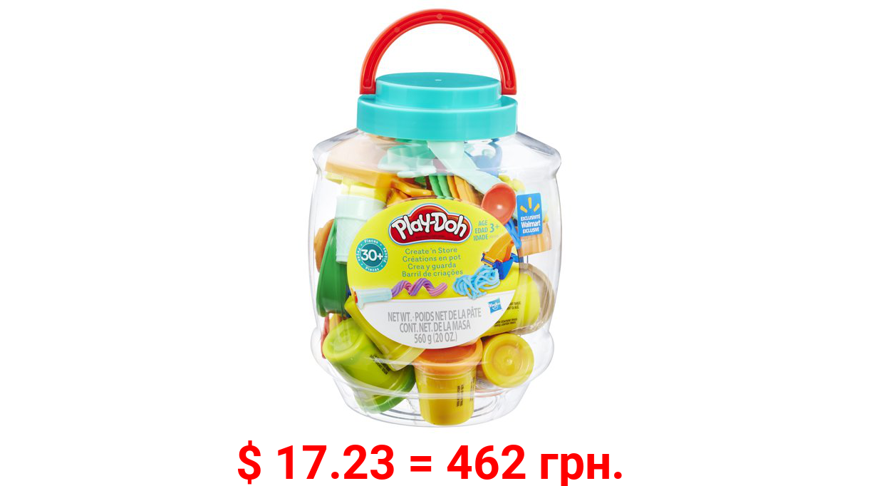 Play-Doh Create 'n Store Bucket, 10 2-Ounce Cans, 20 Ounces Compound Total