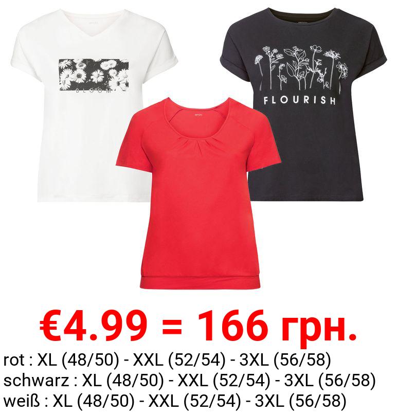ESMARA® T-Shirt Damen, leger geschnitten