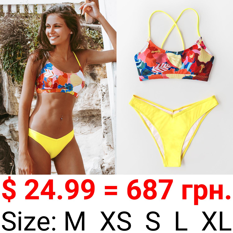 Bright Floral Print Bikini