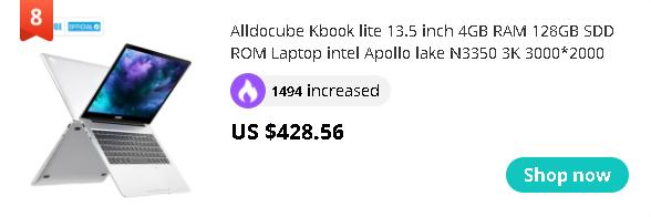 Alldocube Kbook lite 13.5 inch 4GB RAM 128GB SDD ROM Laptop intel Apollo lake N3350 3K 3000*2000 IPS Notebook 2020