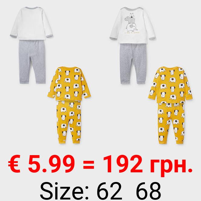 Baby-Pyjama - Bio-Baumwolle - 2er Pack