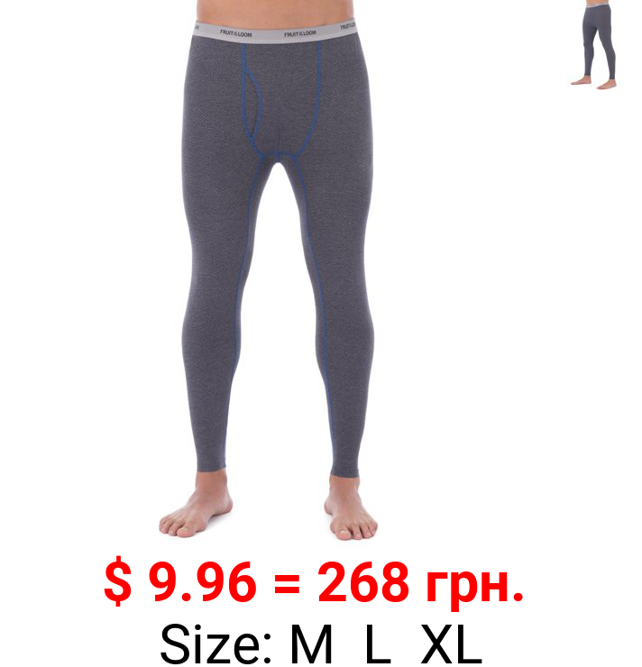 Fruit of the Loom Men's Breathable Super Cozy Thermal Pant Underwear for Men