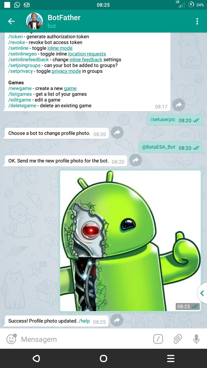 Como adicionar foto ao seu BOT no Telegram