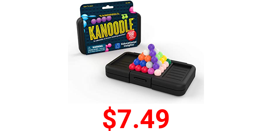 Educational Insights Kanoodle 3-D Brain Teaser Puzzle Game for Kids, Teens & Adults, Featuring 200 Challenges, Indoor Recess Game, Ages 7+