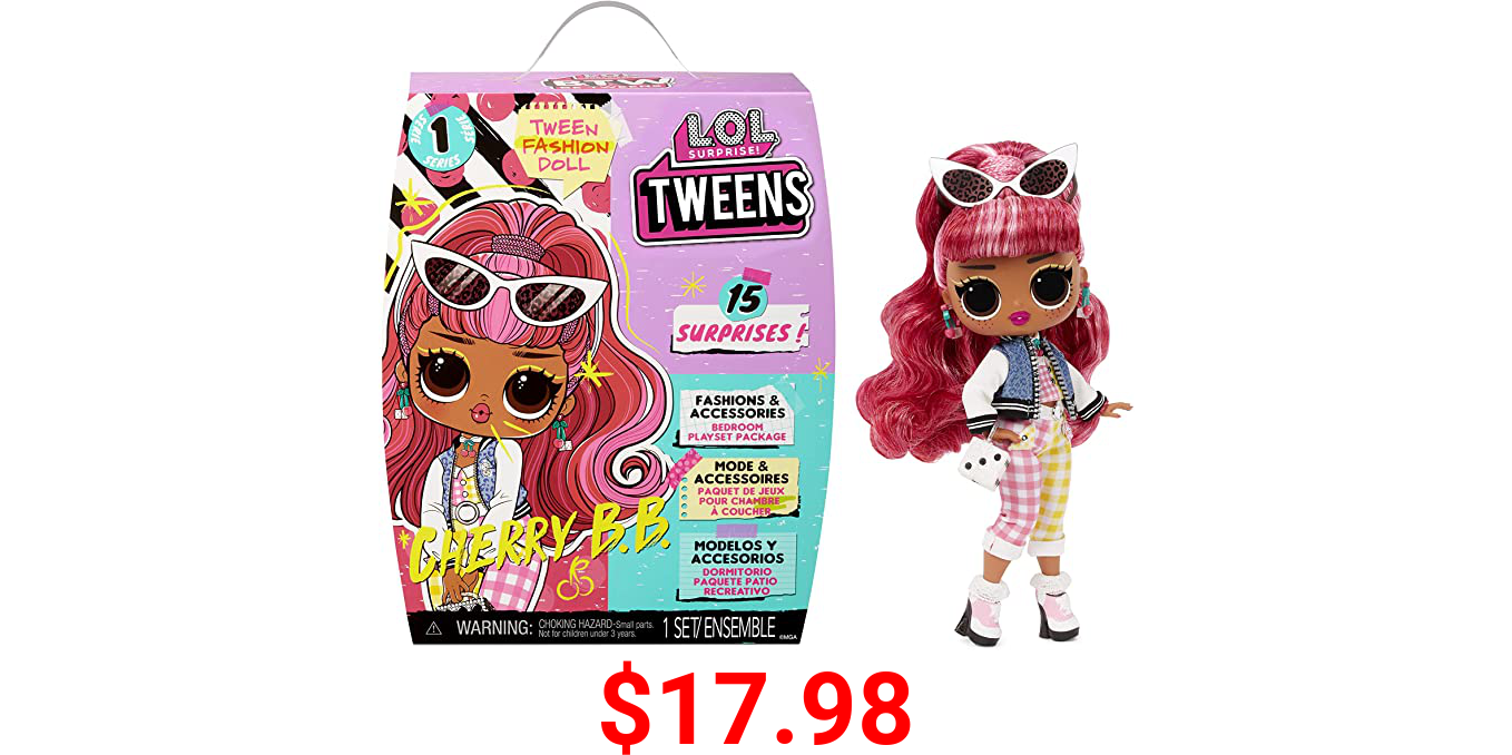 LOL Surprise Tweens Fashion Doll Cherry BB with 15 Surprises Including Outfit and Accessories for Fashion Toy