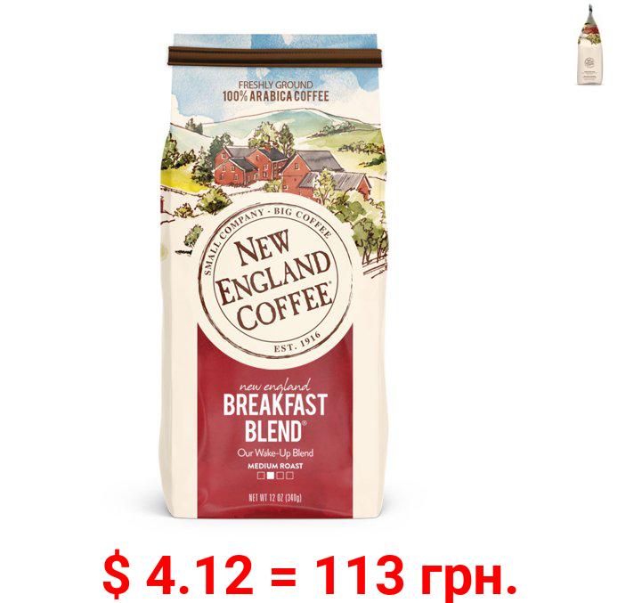 New England Coffee, Breakfast Blend, 12 Oz.
