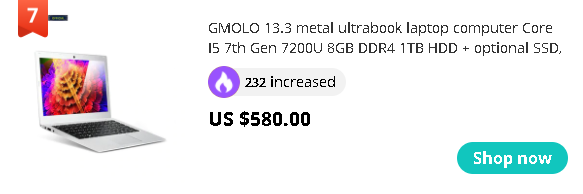 GMOLO 13.3 metal ultrabook laptop computer Core I5 7th Gen 7200U 8GB DDR4 1TB HDD + optional SSD, 1920*1080 HD gaming notebook