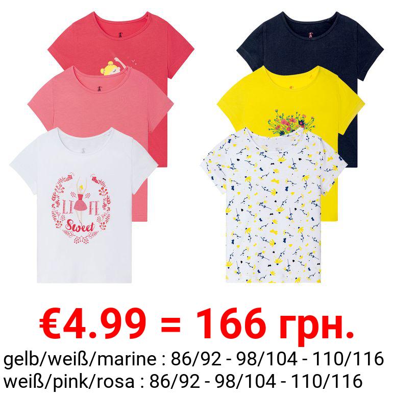 LUPILU® Kleinkinder T-Shirts Mädchen, 3 Stück, mit Print