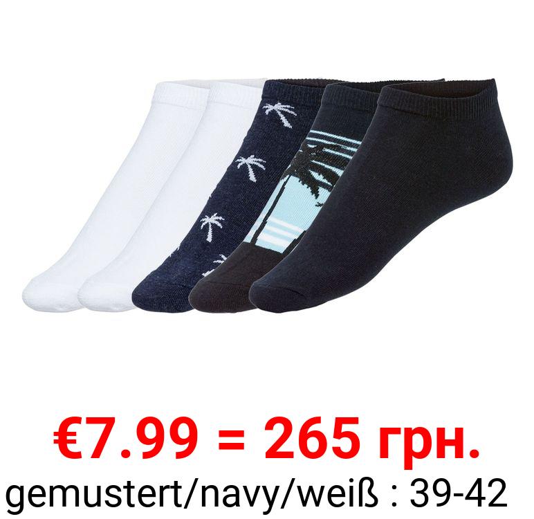 LIVERGY® Sneakersocken Herren, 5 Paar, mit Baumwolle