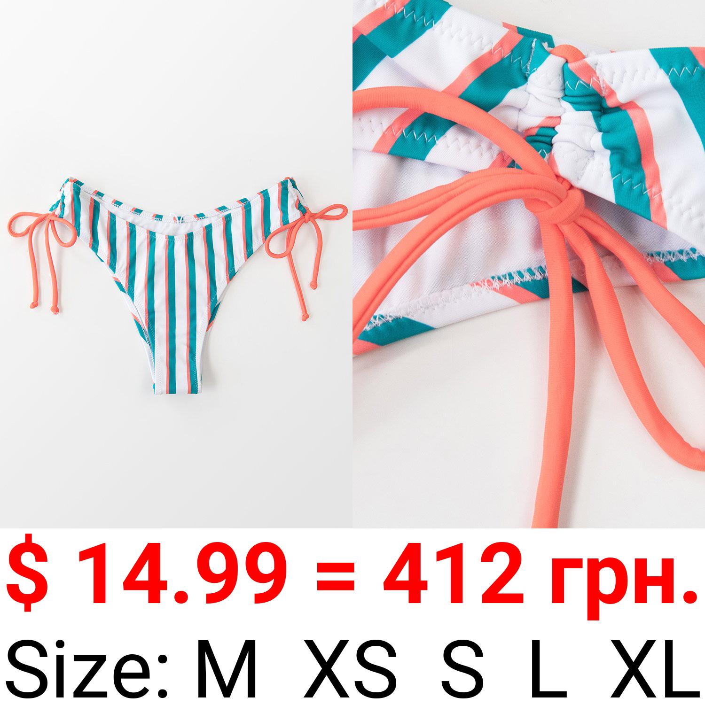 Anika Striped Low Waisted Bikini Bottom