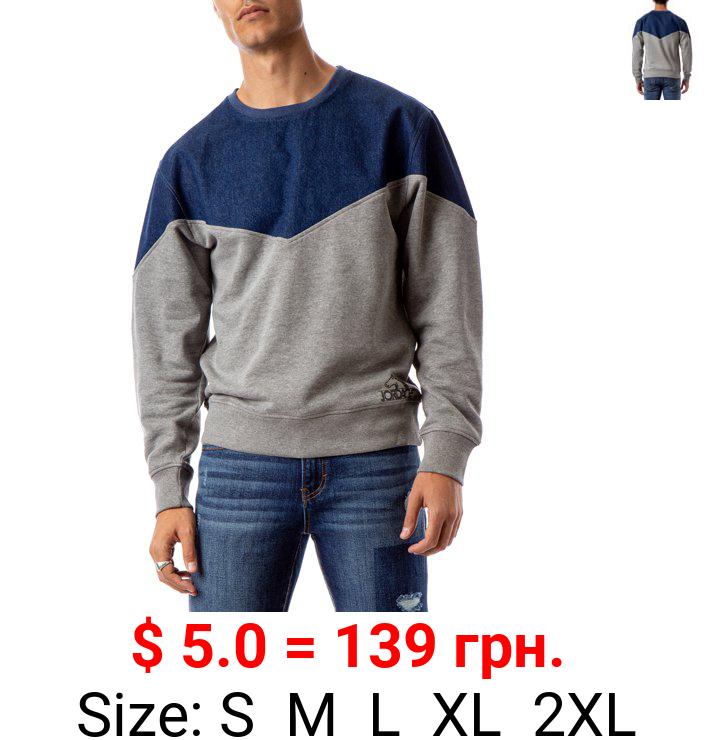 Jordache Vintage Men's Alen Yoke Pullover Sweatshirt, Sizes S-2XL