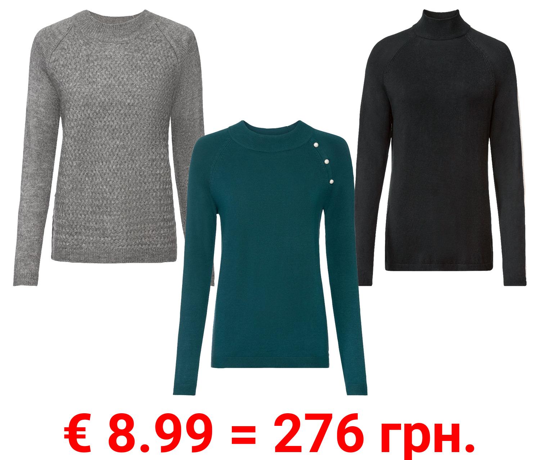ESMARA® Damen Pullover, mit Raglanärmeln