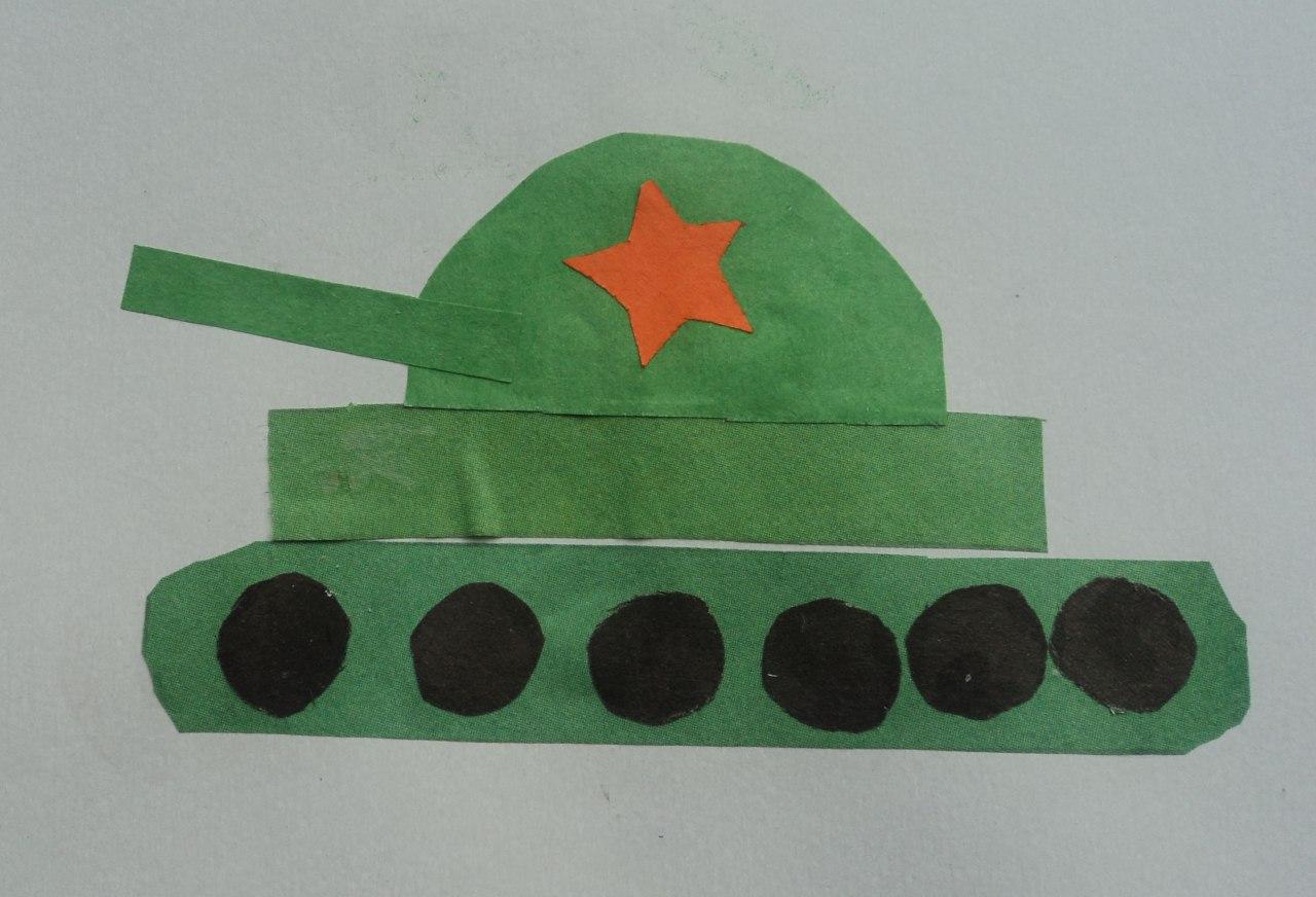 Как сделать из бумаги открытку танк