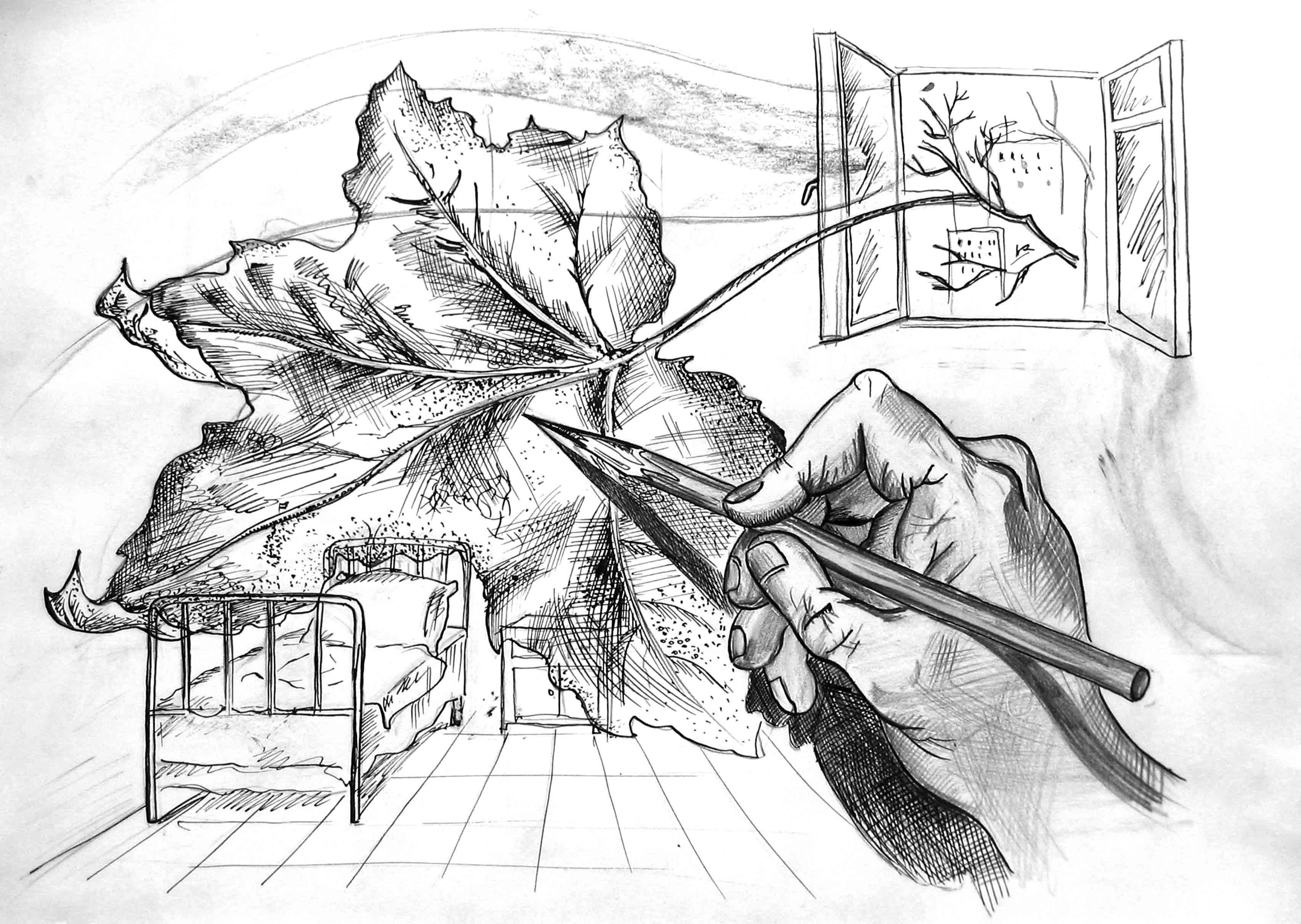 Осенние картинки нарисовать карандашом