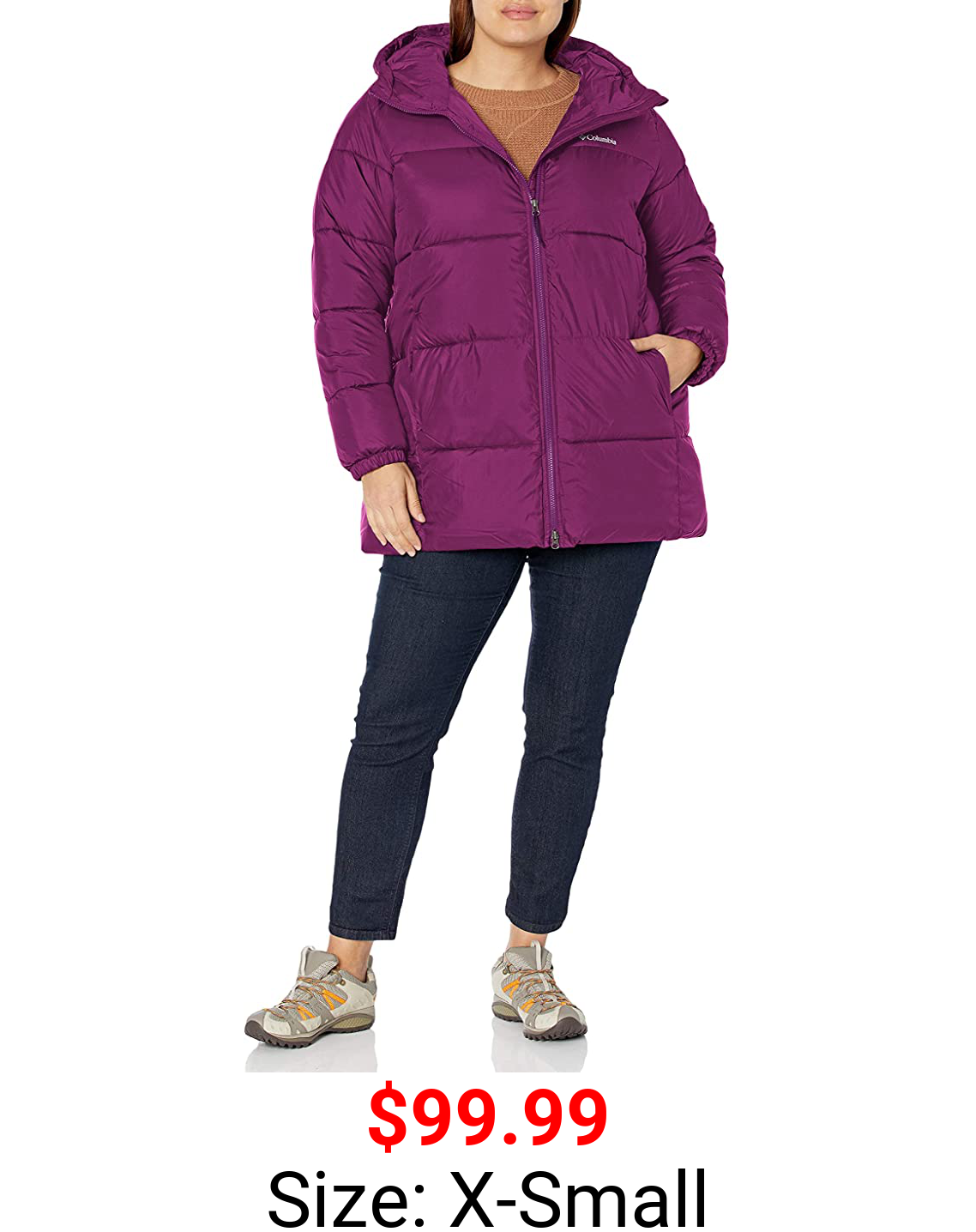 Columbia Women's Puffect Mid Hooded Winter Jacket, Water repellent